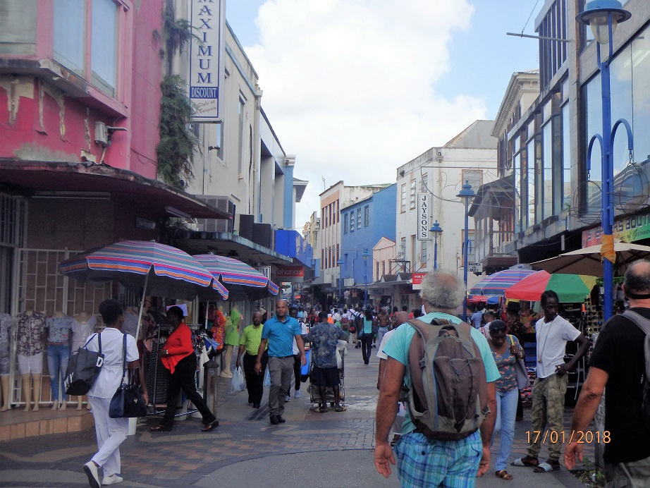 La rue piétonne commerçante