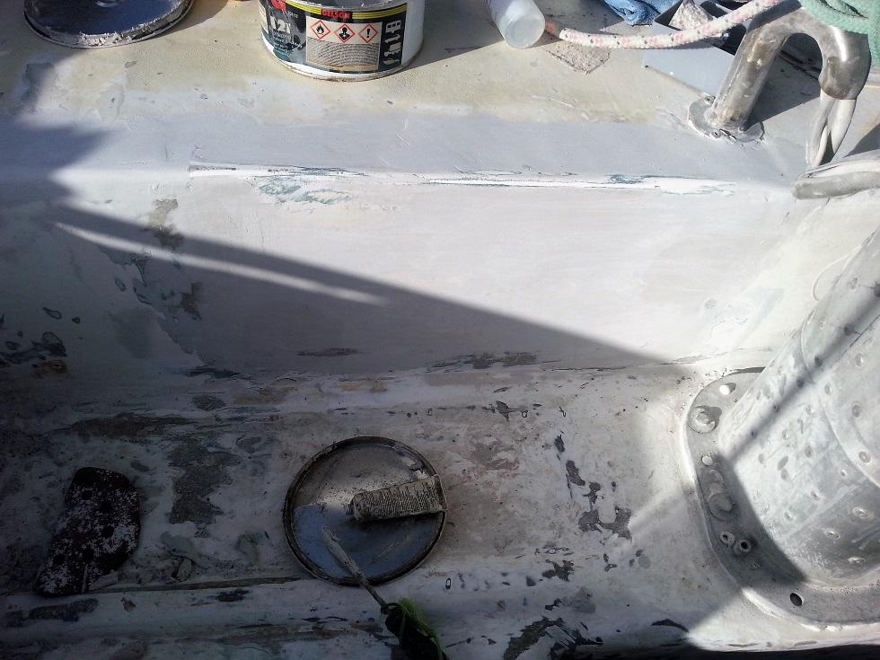 cockpit plus trace de l'ancienne descente