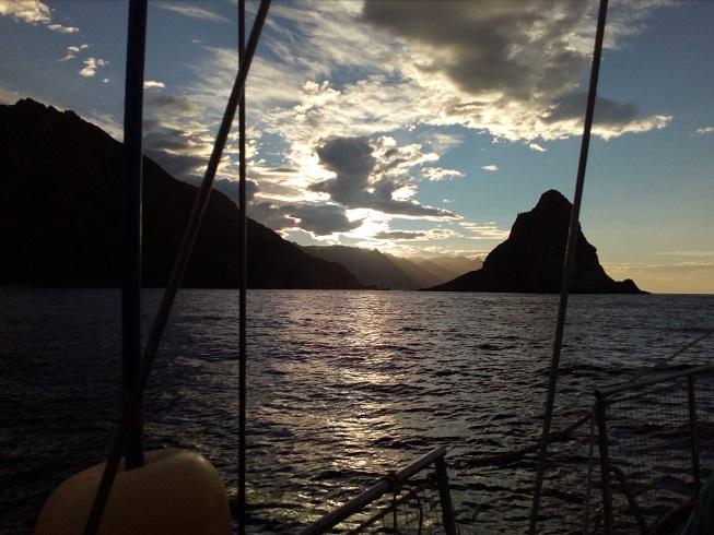 effets de lumière côte N Tenerife