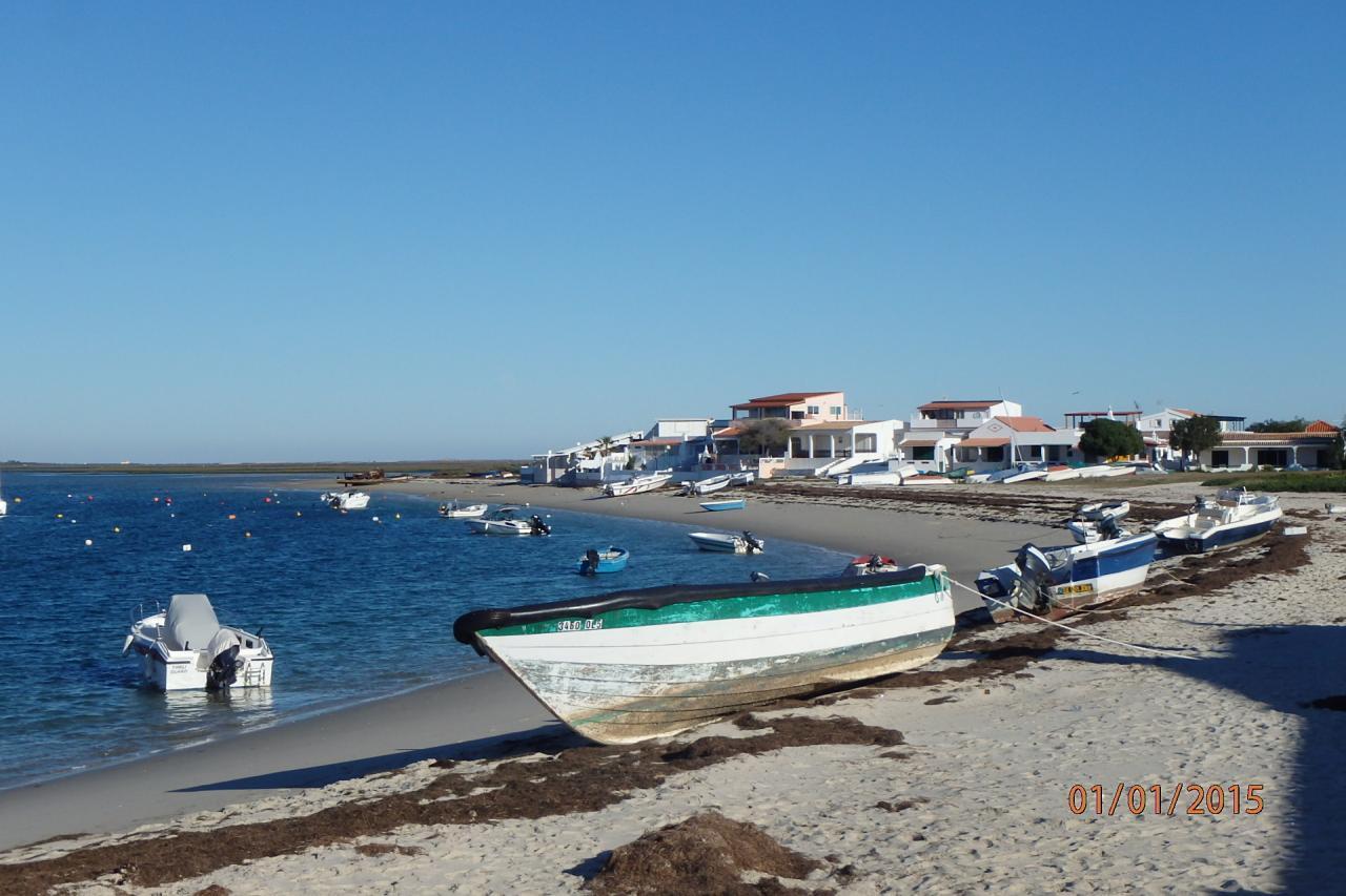 Armona : la plage vue du ponton d'accueil