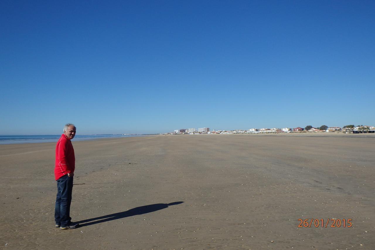 Punta Umbria - la grande plage côté mer