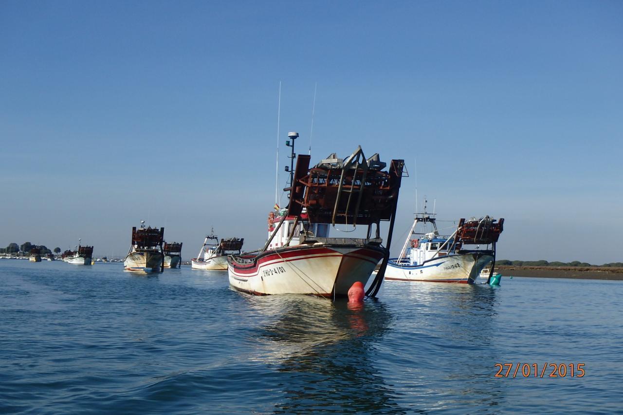 Punta Umbria - les bateaux de pêche aux coquillages