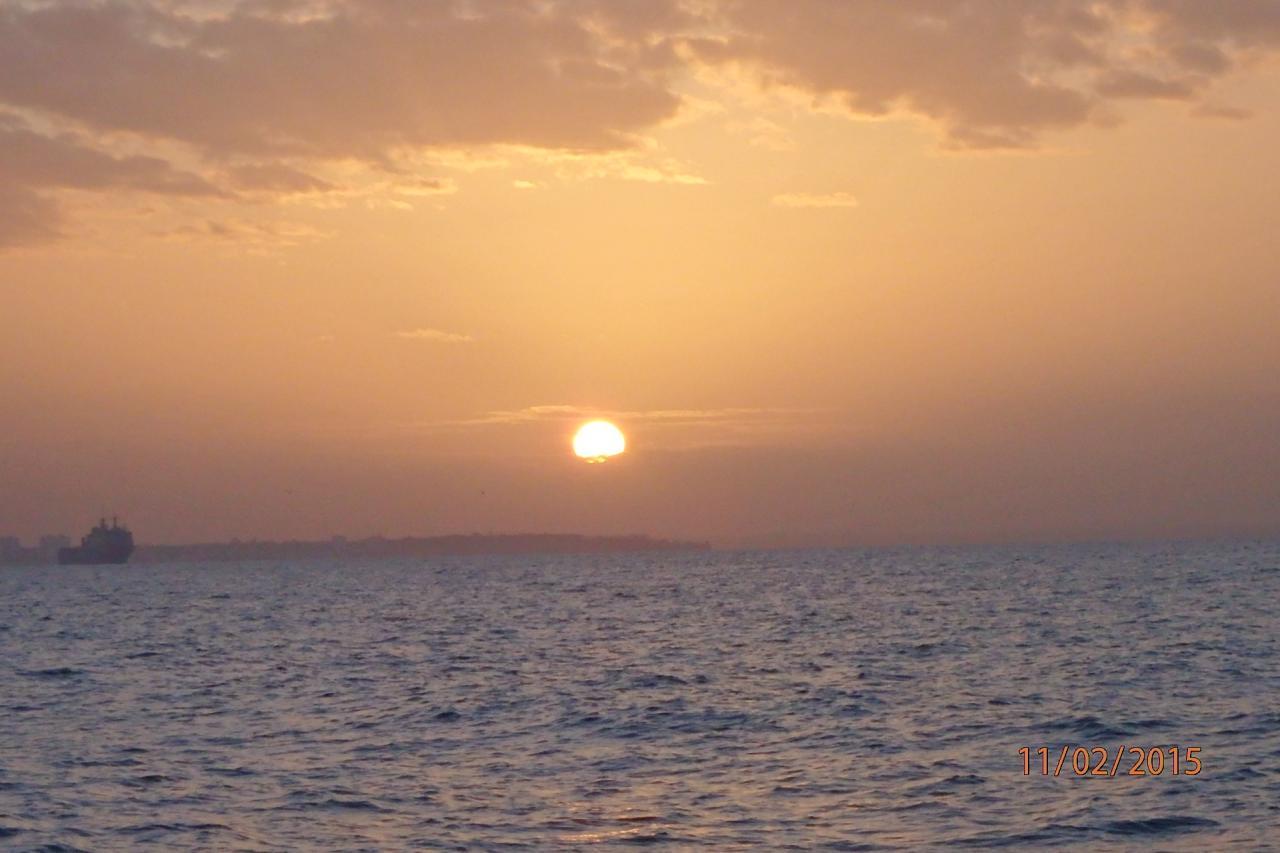 Lever de soleil sur Cadix
