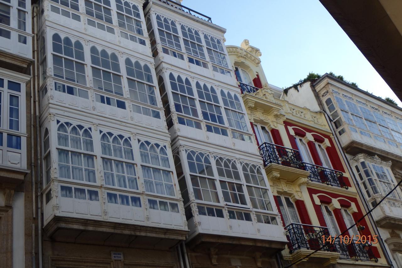 Les façades caractéristiques de la ville