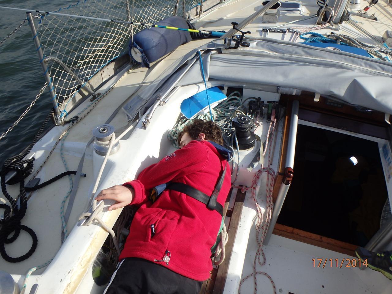 En route pour Porto : Youenn a le mal de mer