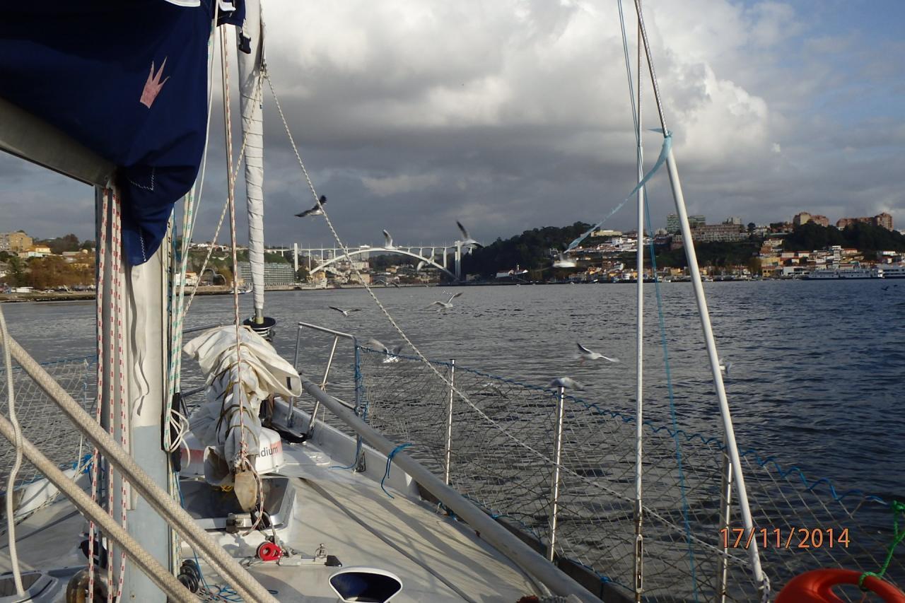 Arrivée à Porto : entrée dans le Douro