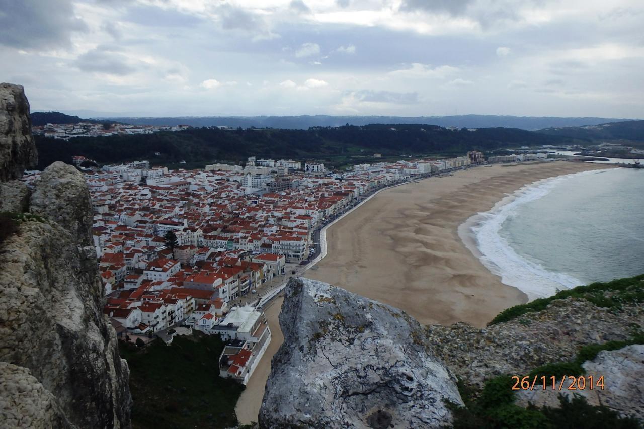 Nazaré vue de la falaise de Sitio