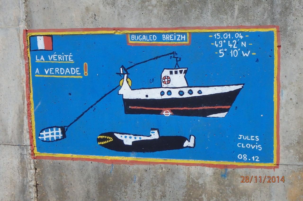 Bugaled breiz sur le port de Nazaré