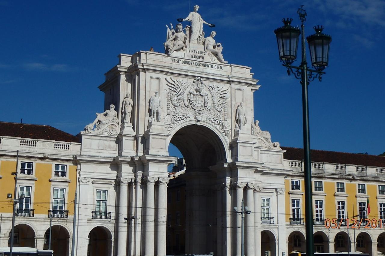 Lisbonne: arc de triomphe