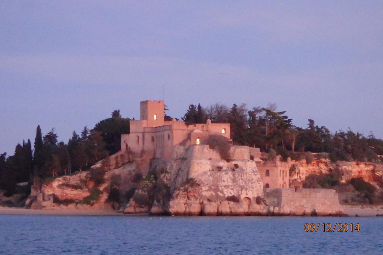 Le fort au coucher de soleil