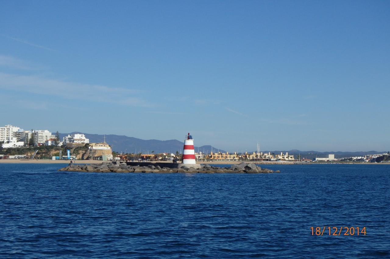 Portimao vue de l'entrée de la baie