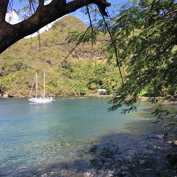 Wallilabou Bay - Lambarena au mouillage