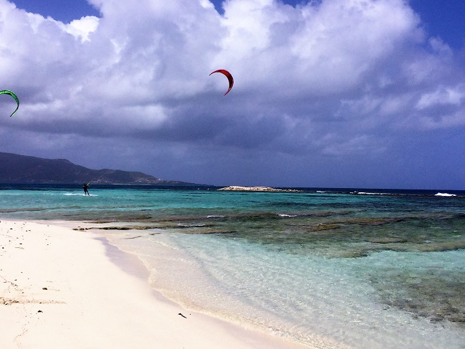 Kite surf à Morpion Island