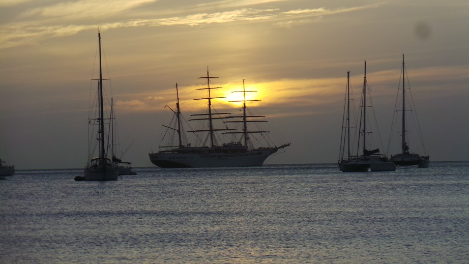 Coucher de soleil à Chatham Bay
