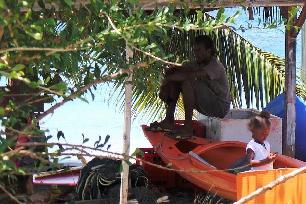 Saline Bay, scène de vie sur la plage