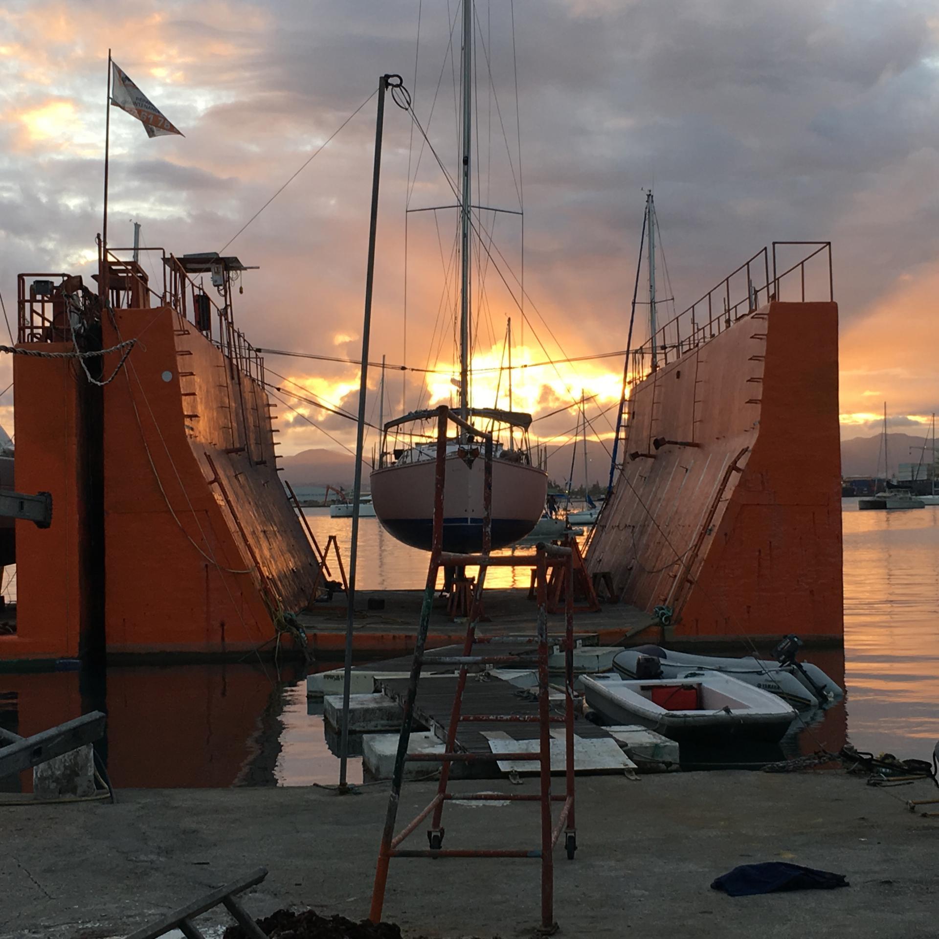 Les docks flottants du chantier