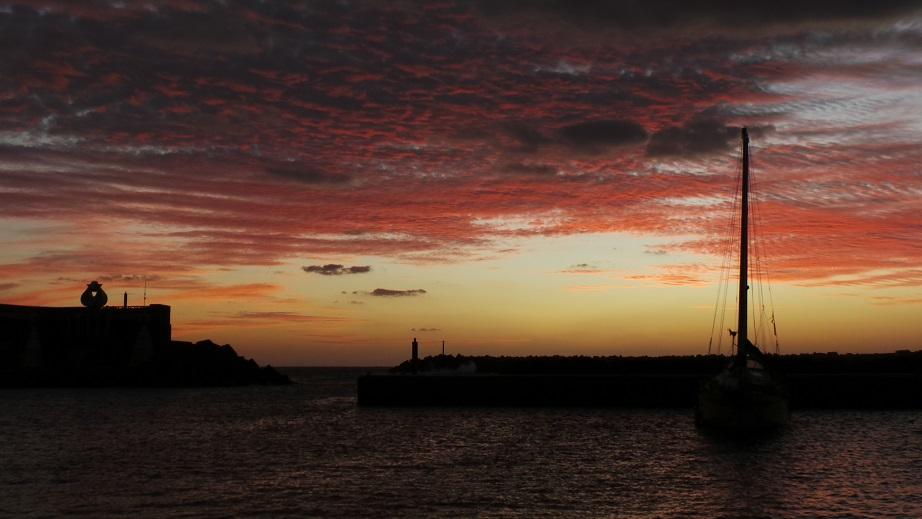 Coucher de soleil au port de La Restinga