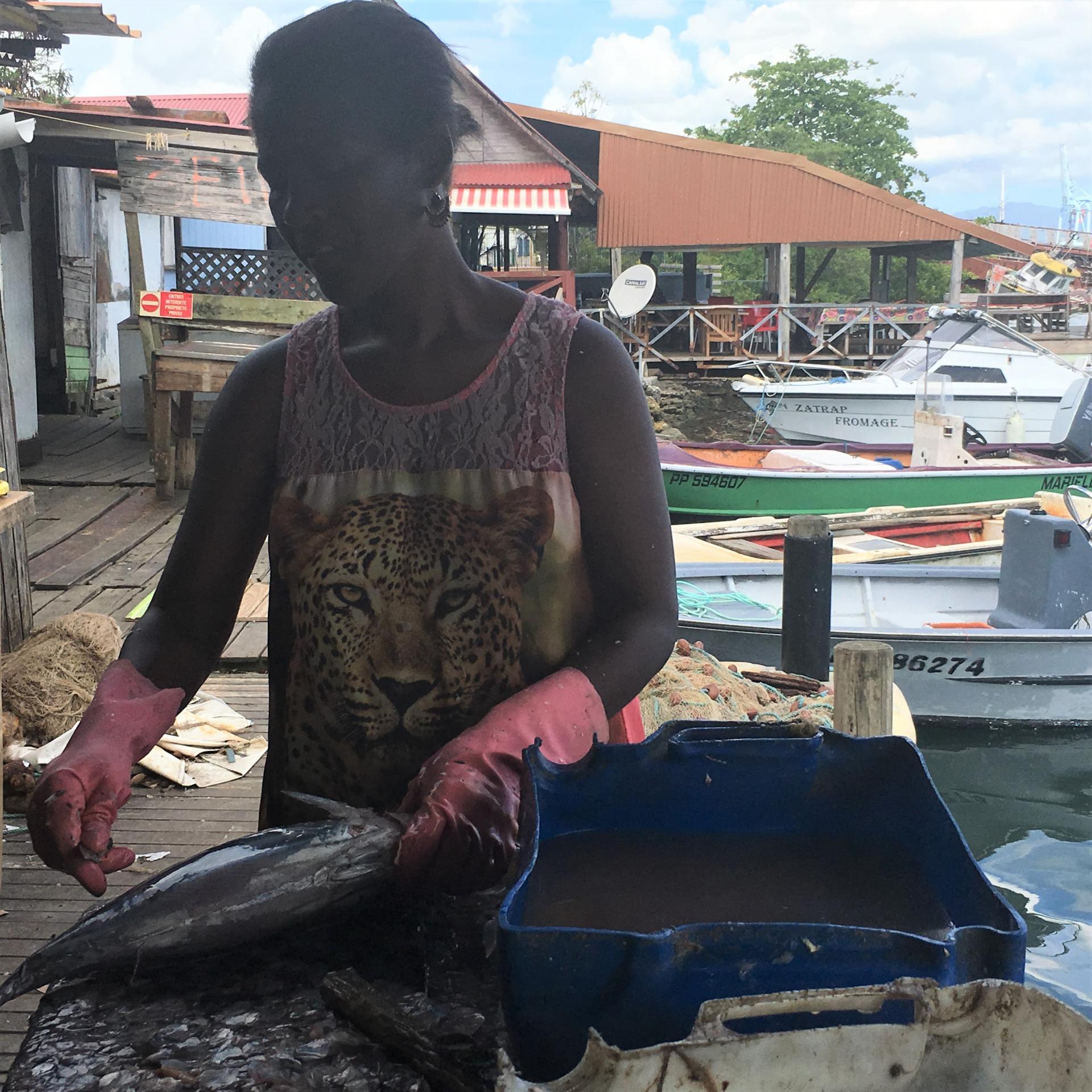 Ecaillage des poissons