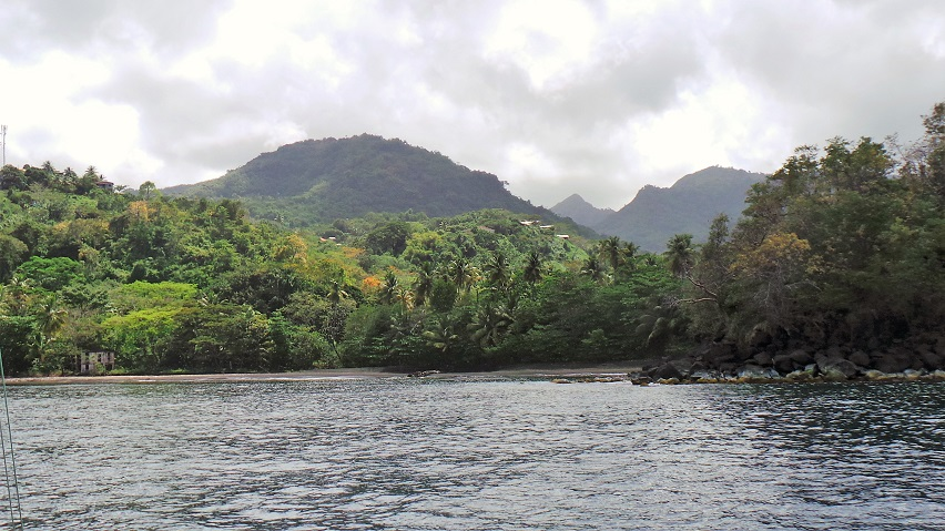 la côte ouest de Grenade