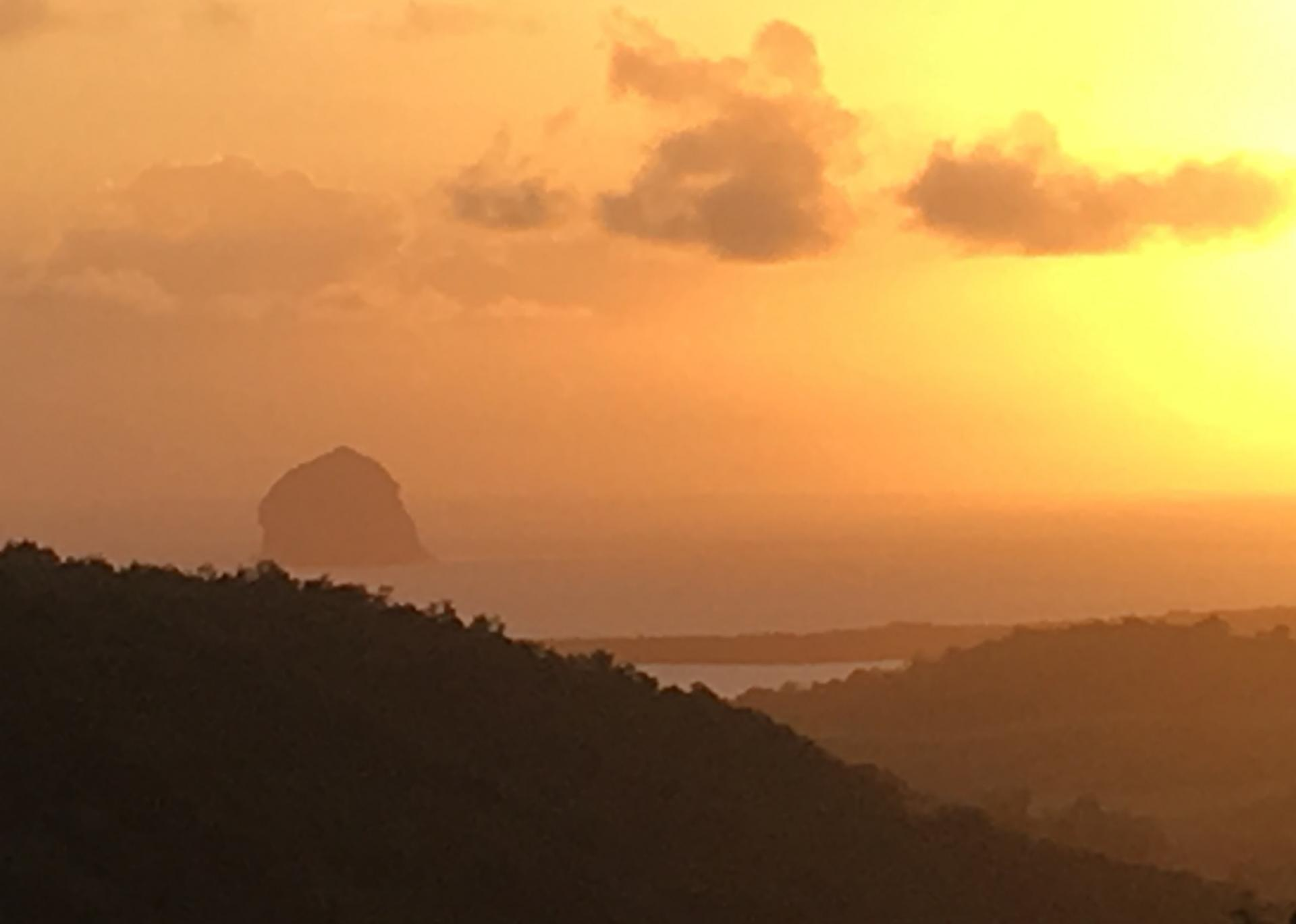Le Diamant au coucher de soleil