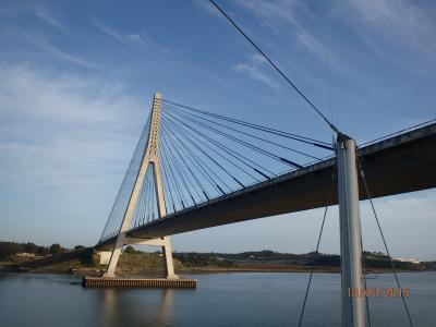 Passage sous le pont du Guadiana