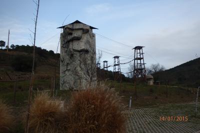 Mur d'escalade à Odeleite