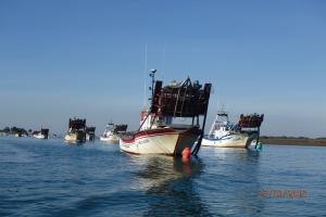 pêcheurs de coquillage à Punta Umbria