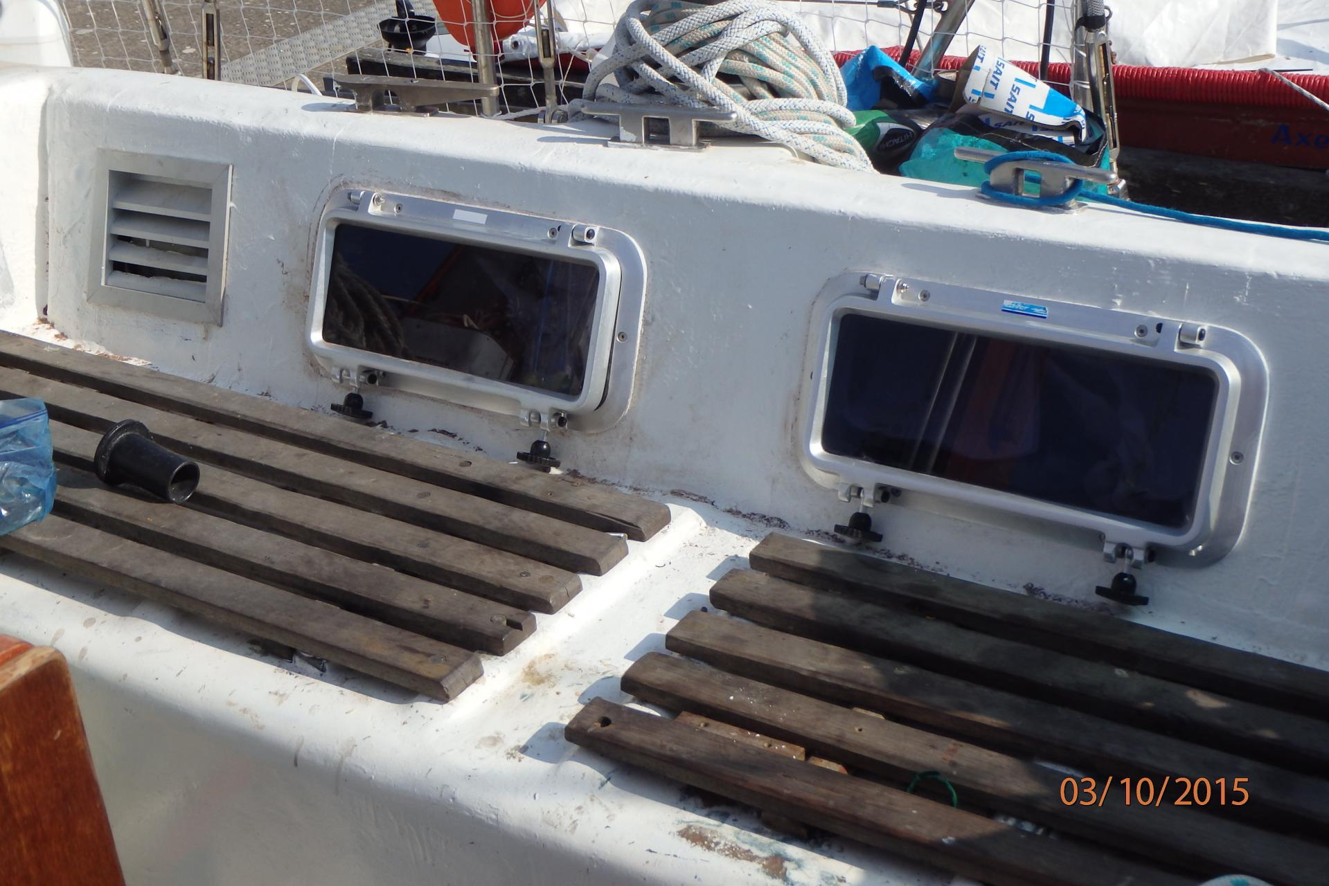 Après : cockpit babord