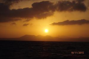 Soleil couchant sur Lanzarote