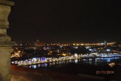 Porto :vue nocturne sur les rivesdu Douro