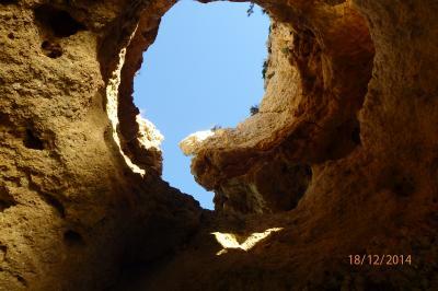 Voute trouée - grottes de Lagos