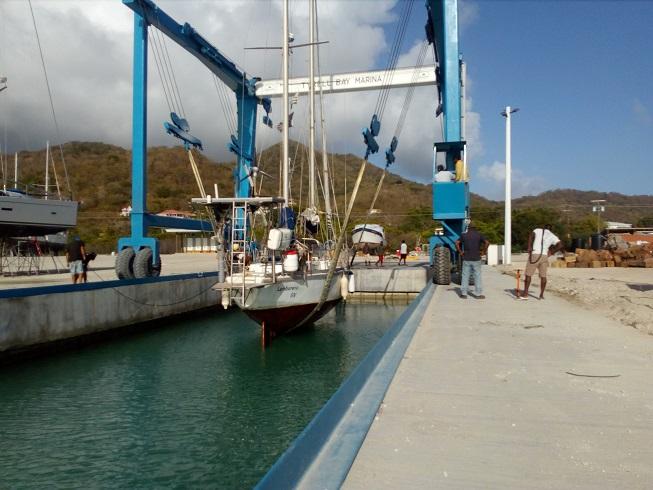 Sortie du bateau à Carriacou