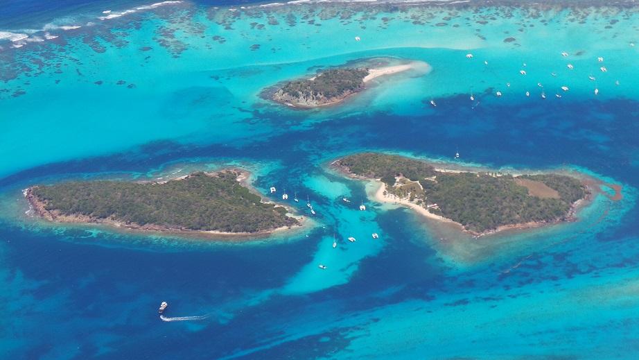 Les Tobago Cays vues d'avion (saison 4)